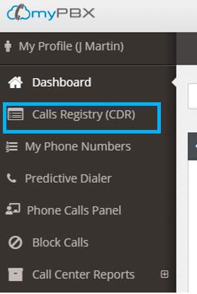 call recordings menu