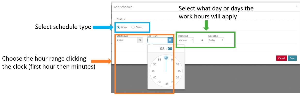 pbx working schedule manage