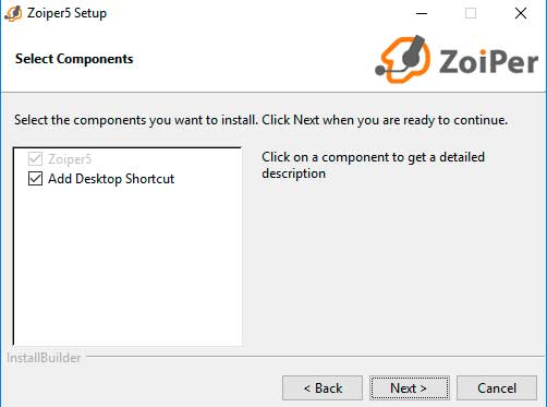 zopier installation options