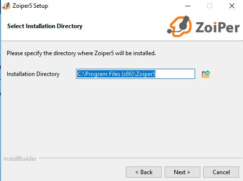 install zopier installation path